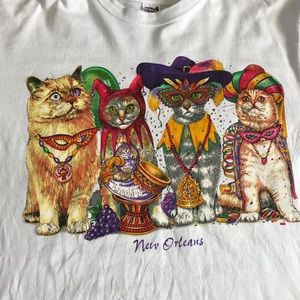 🔥Vintage Mardi Gras Cats Shirt🔥